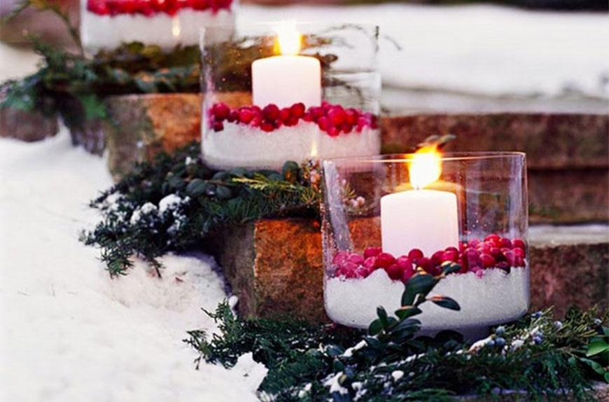 karácsonyi dekorációs ötletek a kertbe